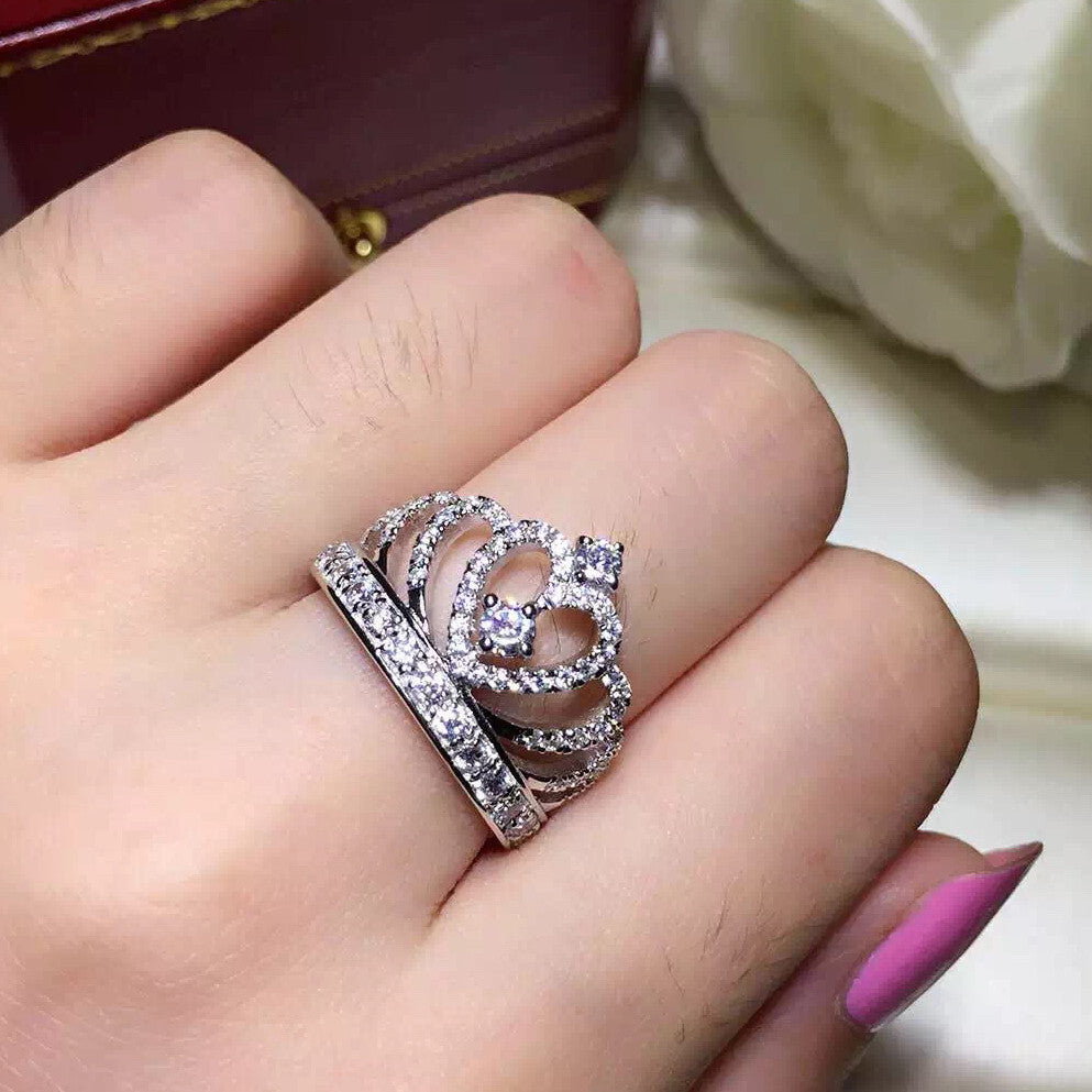 set diamonds on wedding rings crown diamond products finger friendly ring band marquise stack