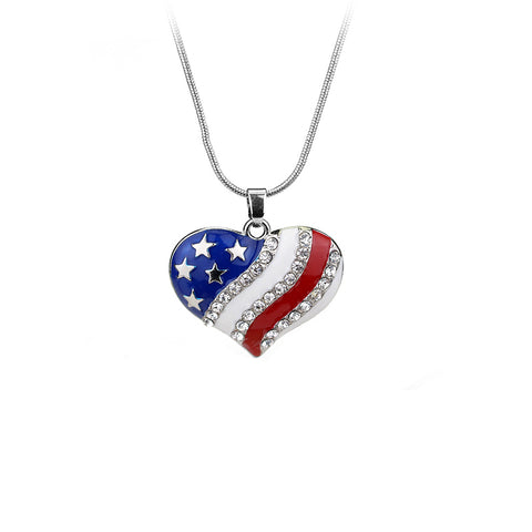 Heart| The Stars and Stripes Pendant Necklace
