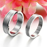 Personalized Simple Life Concise Titanium Steel Lover Rings