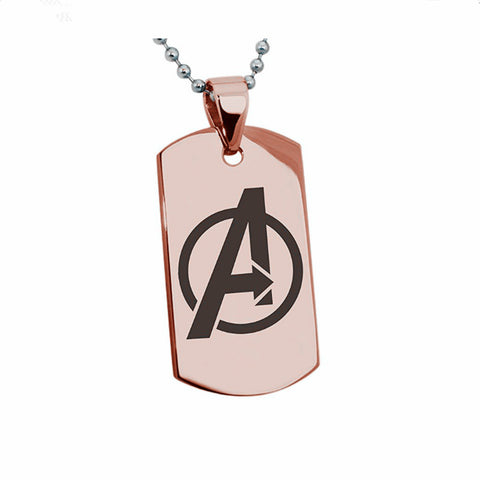 Titanium Steel Avengers Pendant Necklace
