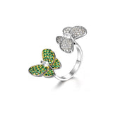 Charming Butterfly-shaped  Design 925 Sterling Silver Silver Statement Ring