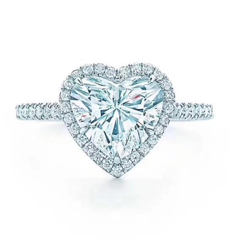Heart Shaped Zircon Engagement Ring