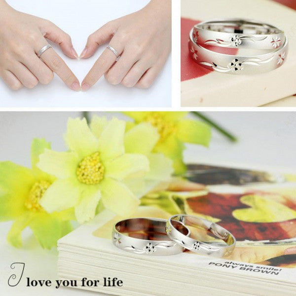 83cc82bbd4 Pretty 925 Sterling Silver Couples Ring For Lovers(Price For a Pair ...