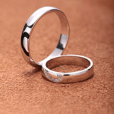 Personalized 925 Sterling Silver Lover's Matching Heart Couple Rings