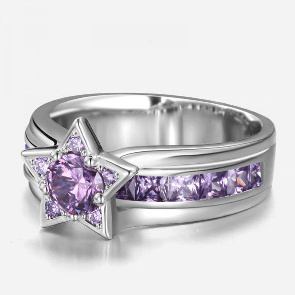 purple wedding rings shaped purple engagement ring evermarker 6922