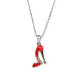Queen on Red Heels Pendant Necklace
