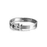 Personalized U-shaped Design Titanium Steel Silver Bracelets