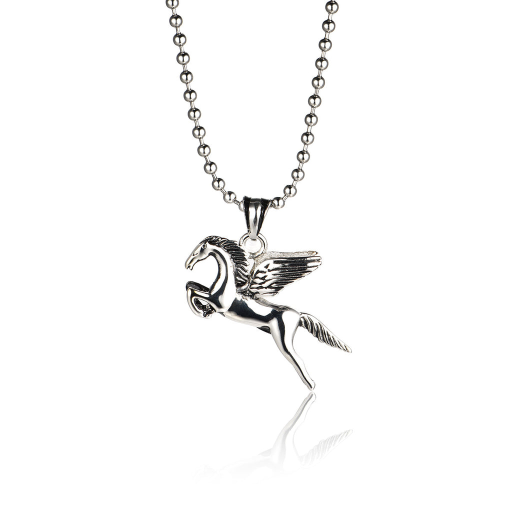 The Wings of the Horse Titanium Steel Necklace