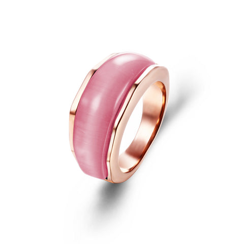 Rose Gold Faux Opal Cocktail Ring