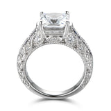 2.2 CT Emerald Cut Created White Sapphire Engagement Wedding Ring