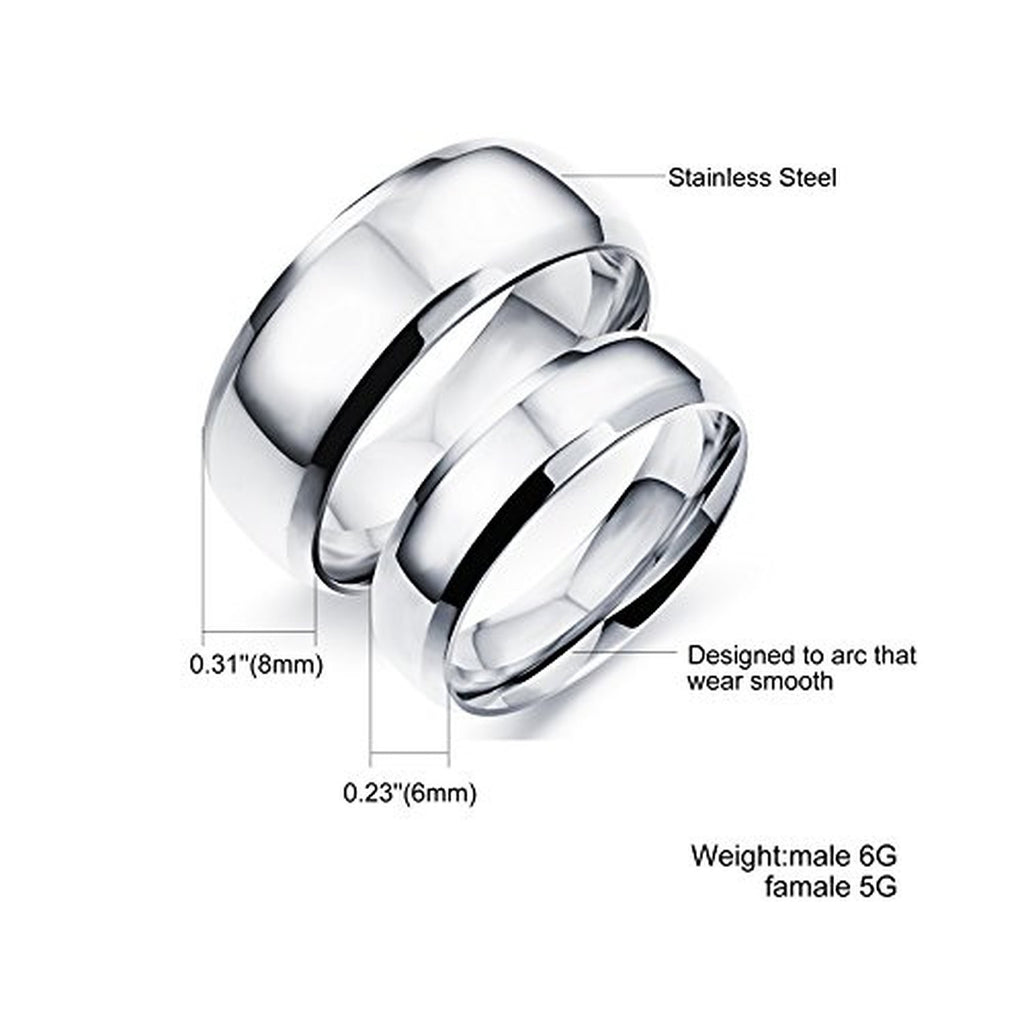 Unconditional Eerlasting love Pure Silver Matching Couple Rings ...