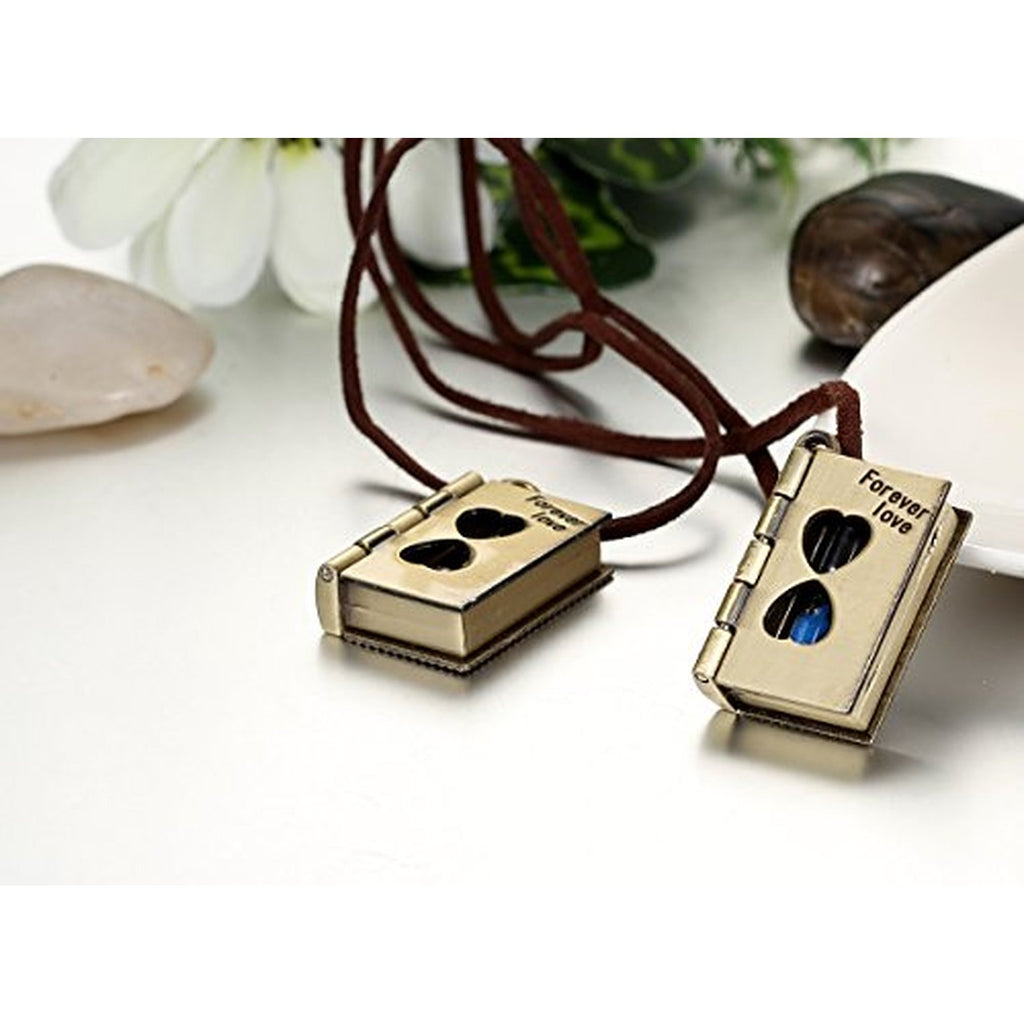 Couples forever love letter book hourglass pendants men women heart couples forever love letter book hourglass pendants men women heart necklaces mozeypictures Image collections