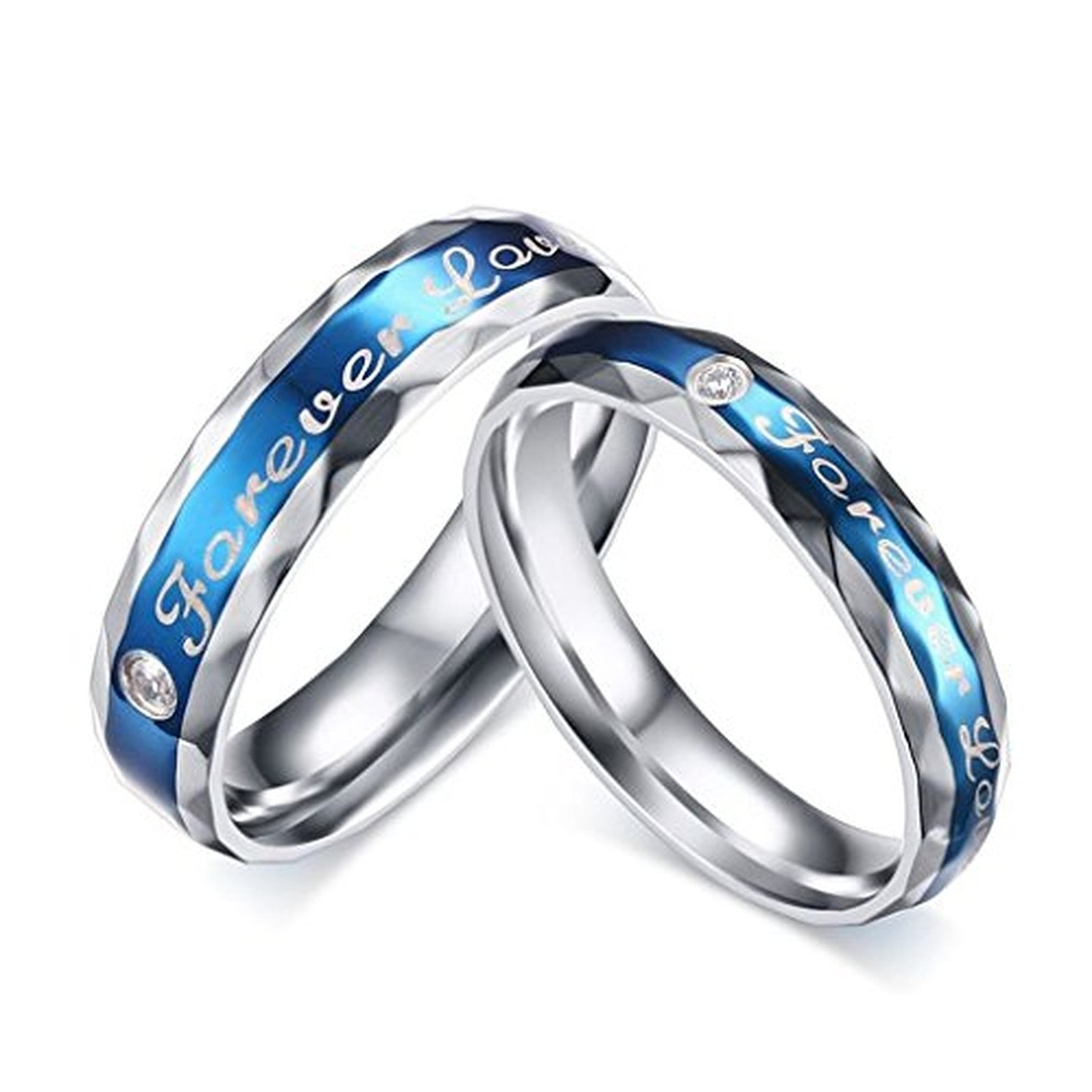 women band s men heart tone stainless ring engagement inblue com couple womens rings amazon wedding promise silver dp jewelry steel