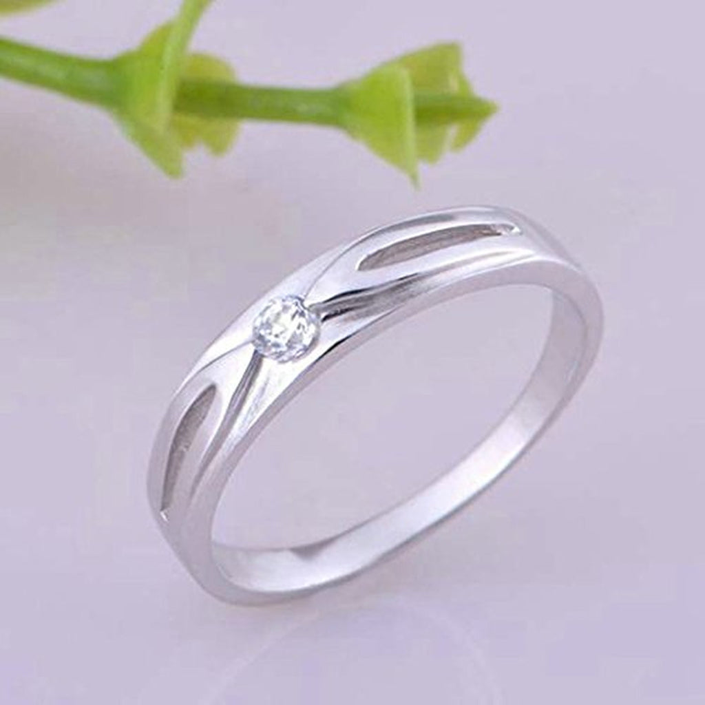 evermarker bands cz az silver rings beydodo unisexs wedding couple products steel stainless for
