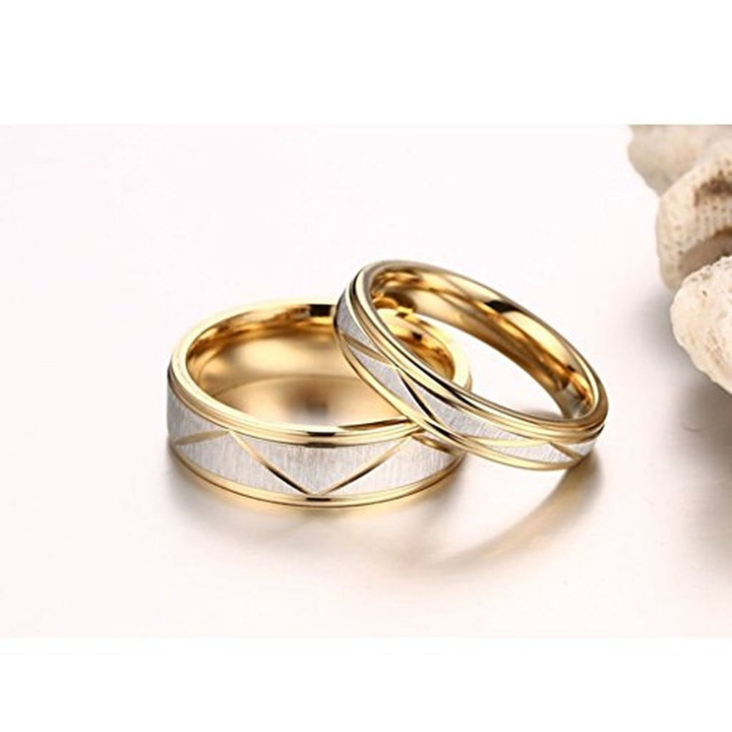 Titanium Stainless Steel Couple Engagement Wedding Bands Rings