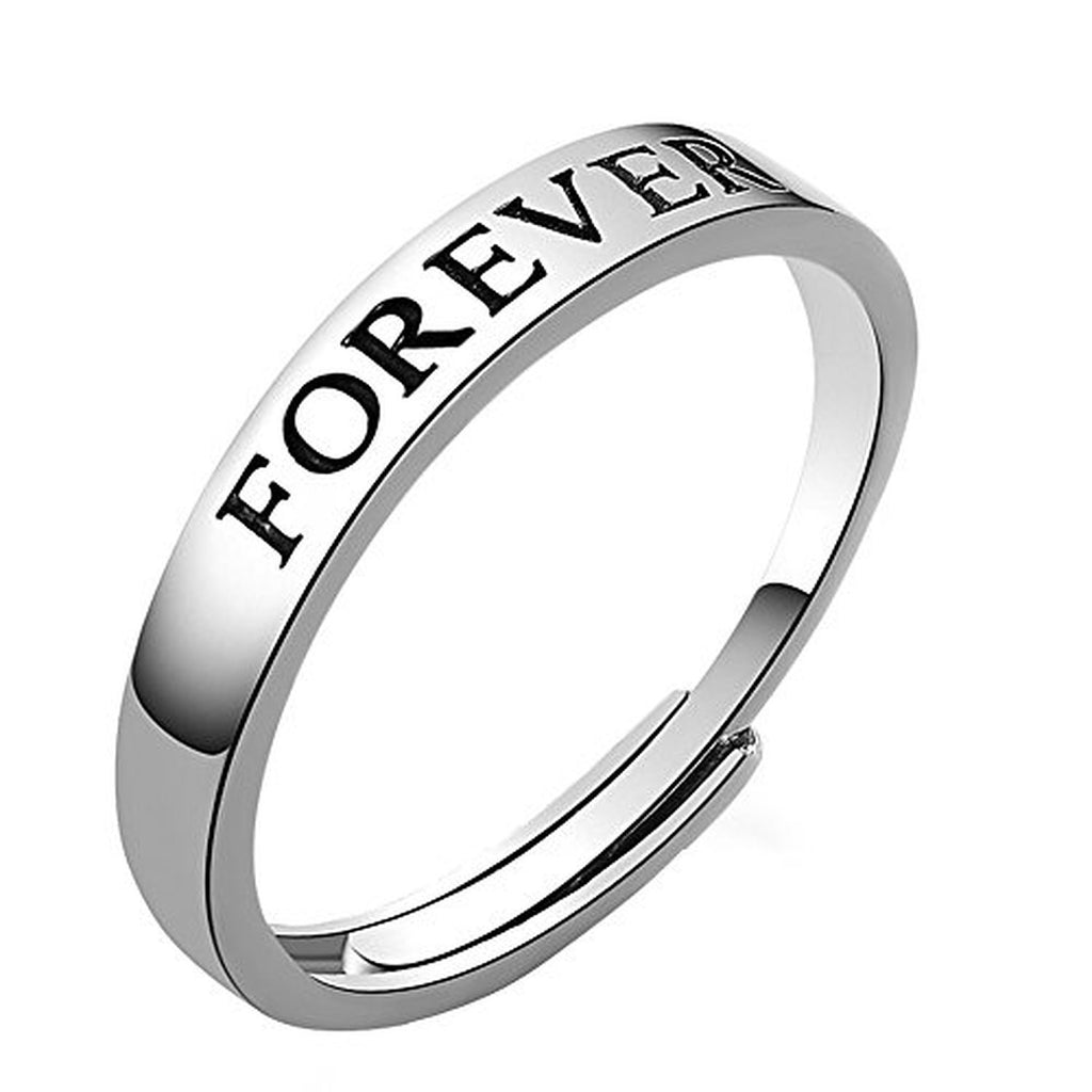 29bb8b40cc 925 Sterling Silver Promise Ring Love You Couple Rings – EverMarker