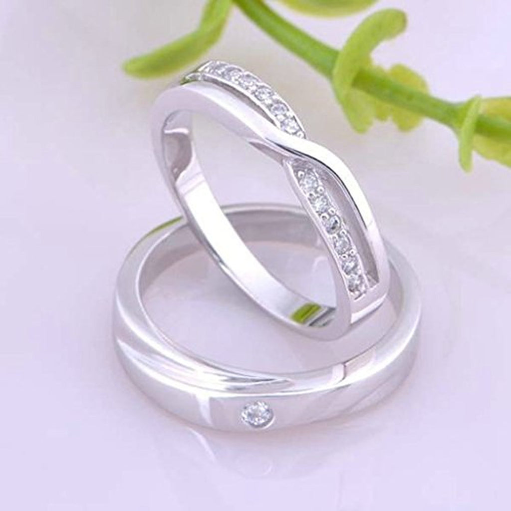plated evermarker couple of wedding cubic new silver zironina promise rings bands