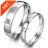 Personalized |You Are Perfect in Mind| Couple Lover's Band Engagement Rings