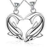 Lovely Dolphins Titanium Steel Couple Necklaces