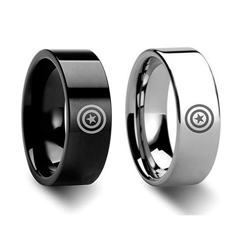 Titanium Steel Avengers Couple Rings