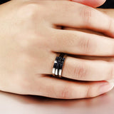 Personalized Three-In-One Detachable Stainless Steel Cross Men's Ring