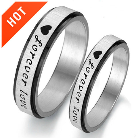 Personalized Forever Love Couple Rings