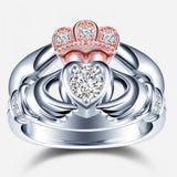 Forever Diamond Claddagh Ring with Two Pieces