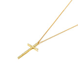 True Devotion 18K gold Plated 925 Silver Cross Pendant Necklace