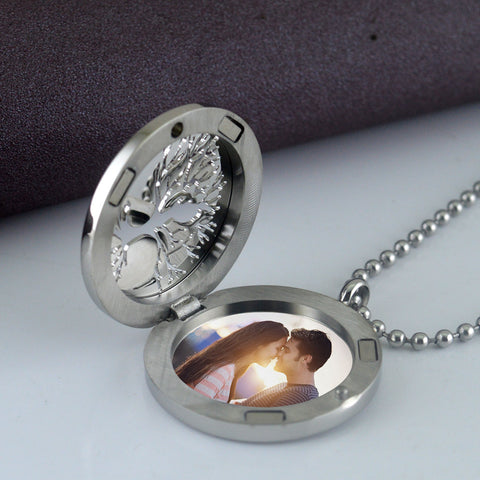 Life Tree Couple Titanium Steel Couple Locket