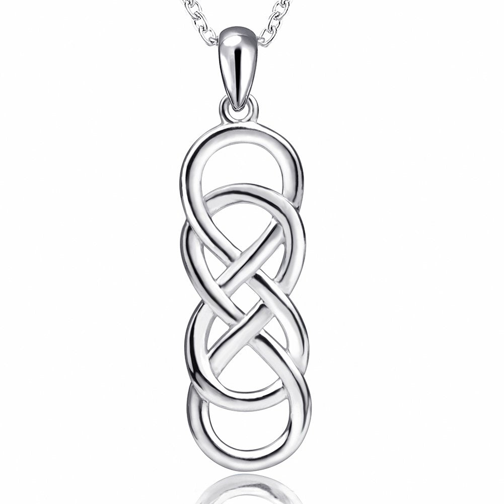 Infinity and Cross Pendant 925 Sterling Silver Necklaces