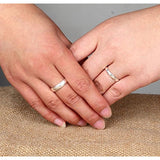 Sterling Silver High-Polished Adjustable Couple Rings