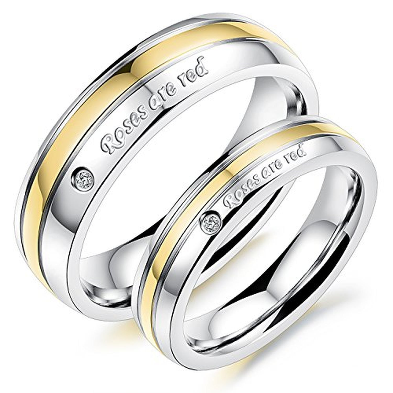 couple rings cubic womens wedding mens zirconia products evermarker