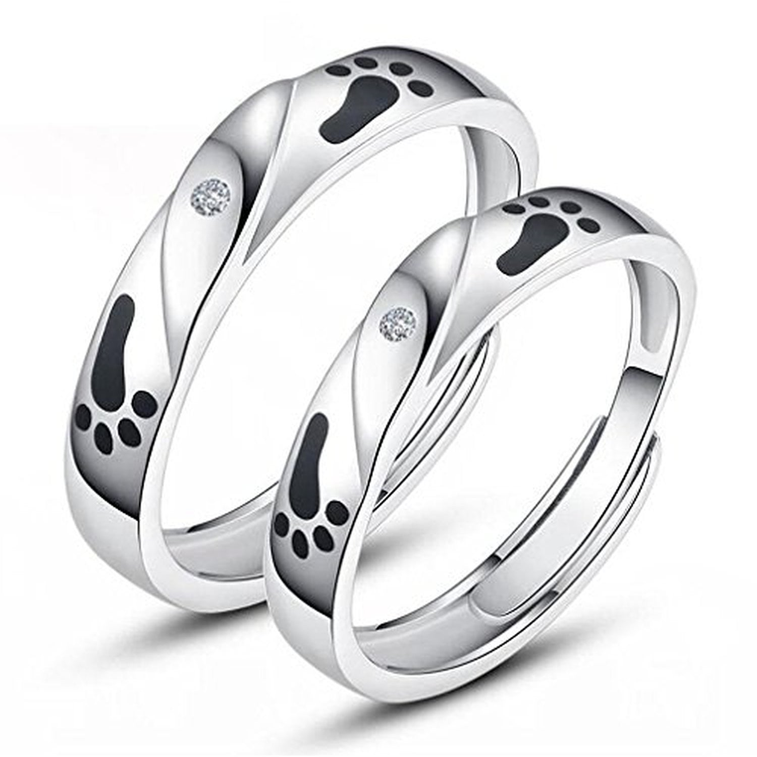 detail couple product stone band with steel fashion engagement women s wholesale black stainless wedding ring rings