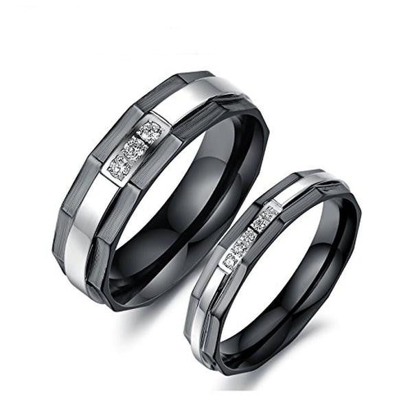 Titanium Stainless Steel We Love Each Other Couple Rings