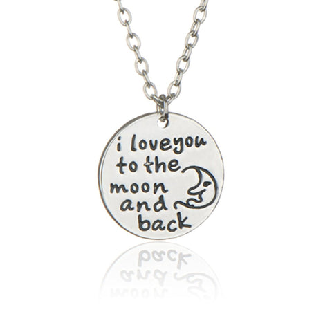 925 Sterling Silver Tone Engraved Inspirational Pendant Necklace