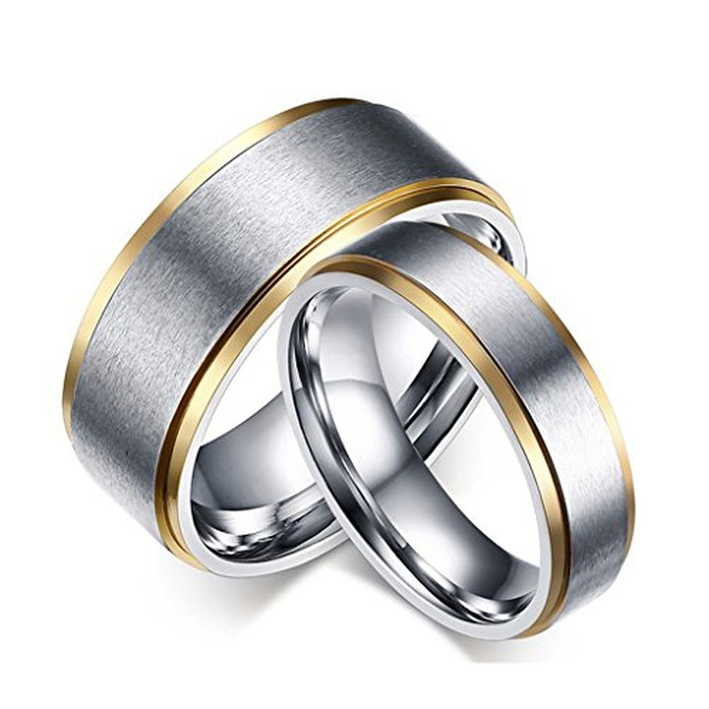 Titanium Stainless Steel Couple Wedding Rings U2013 EverMarker