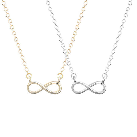 Tiny Infinity Collar 18K Gold/Silver Charm Necklace For Women
