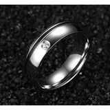 Two Tone Promise Rings Stainless Steel Lover Couple Rings