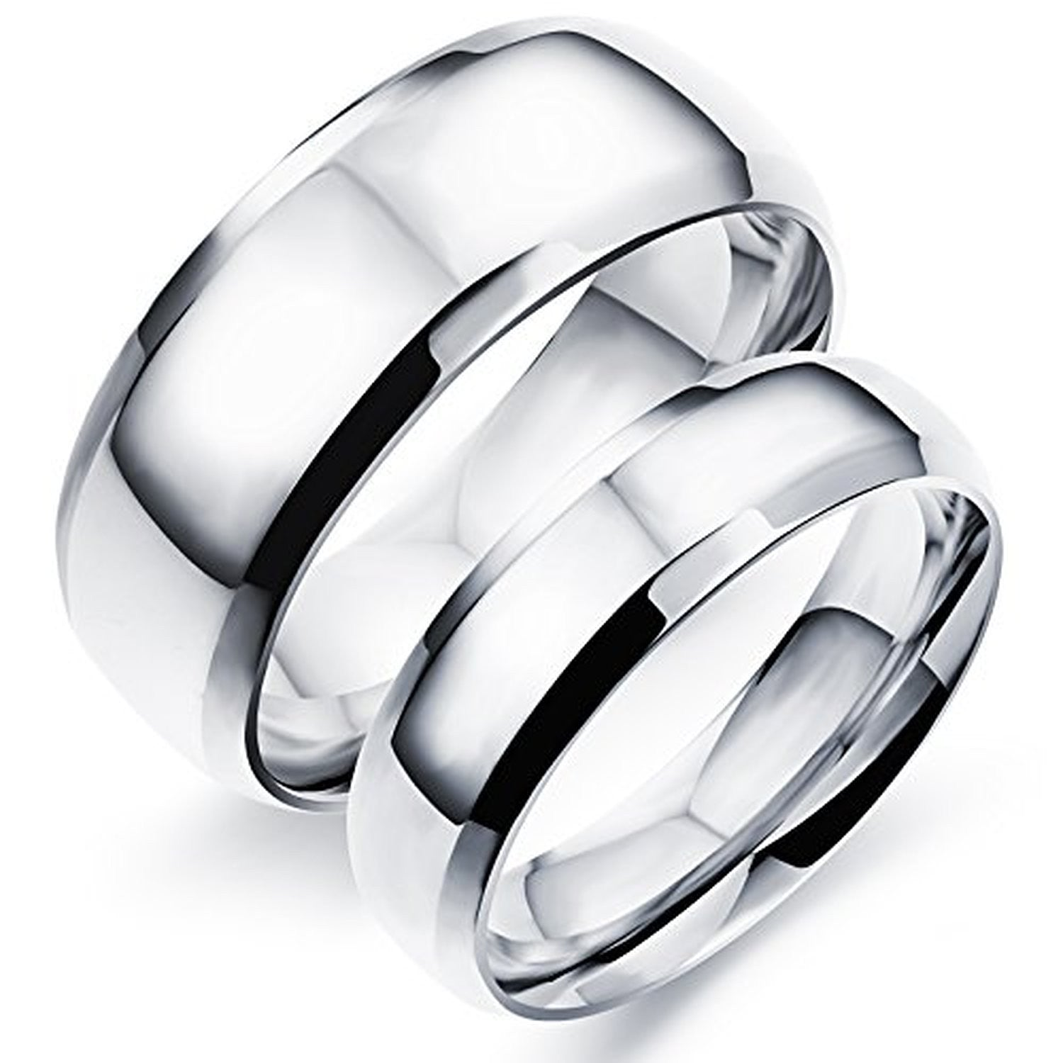 stainless color steel couple cz rings pair stone with evermarker new wedding gold fashion fresh