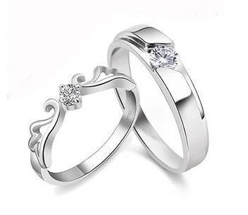 da6ea32677 fashionable-lovers925-sterling-silver-aaa-grade-zircon-platinum-. 925  Sterling Silver Platinum Plated Couple Rings ...