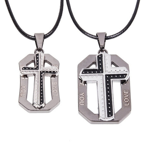 his-and-hers-matching-cross-dog-tag-charm-pendant-on-handmade-leather-necklace-529b00c995afd60d91e116ee