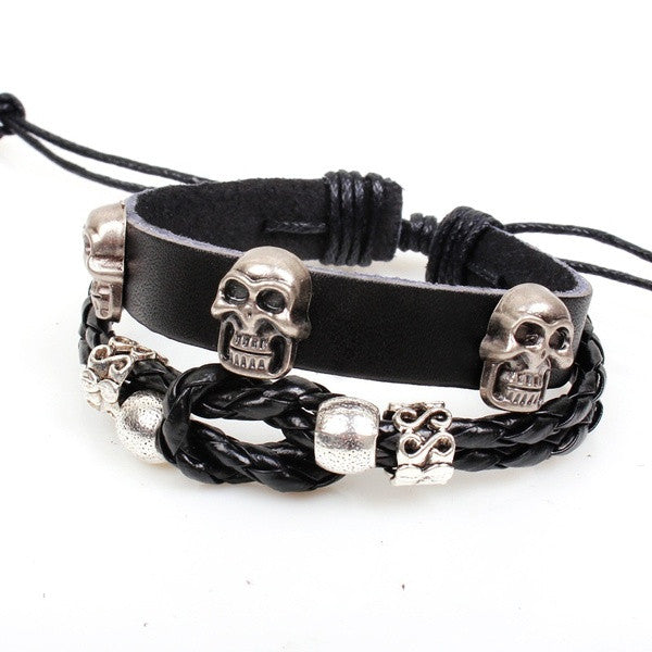 copper-skull-charms-on-handmade-braided-leather-motorcycle-infinity-bracelet-529ba44295afd60f22e117d8