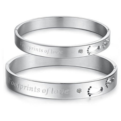south-korea-style-new-fashion-imported-cz-stone-the-footprints-of-love-titanium-stainless-steel-coupleswomensmens-bracelets-bangles-best-gift--couplefemalemale-531494cc98d5f30efbdad341
