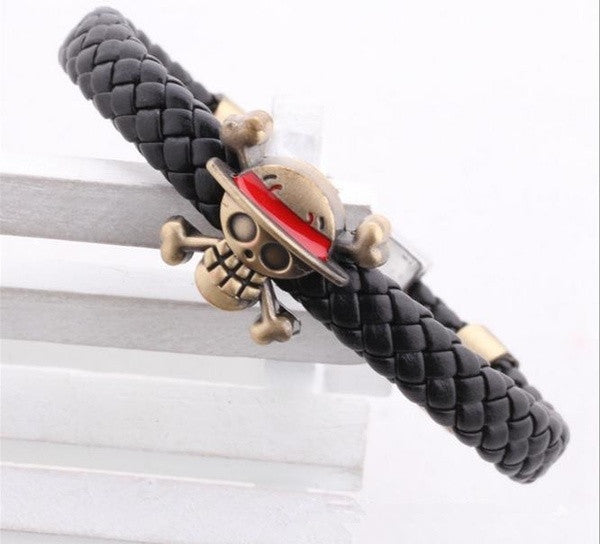 one-piece-bleach-skull-logo-braid-leather-bracelets-539a9c9e34067e0aba9263bf