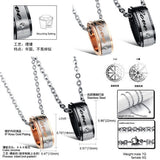 Love Around Cubic Zircon Inlaid Pendant Couple Necklaces