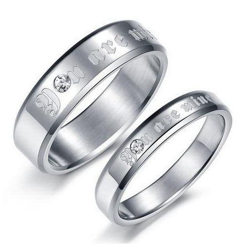 |You are mine| Love Engagement Lovers Promise Rings