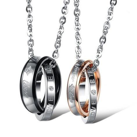 |Forever Love| Double Ring Couple Necklaces