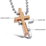 Formula Cross Titanium Steel Couple Necklaces