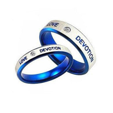 Love Devotion Wedding Bands Couple Lovers Rings