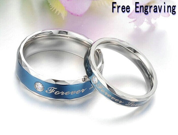 Free Engraving Rings Titanium rings#Lovers rings#his and her ...